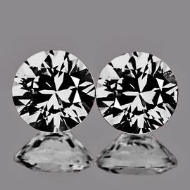 2.40 mm 2 pcs Round D-F COLOR Natural White Diamond {VVS} AAA Grade