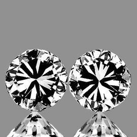 2.60 mm 2 pcs Round Color D-F Natural White Diamond {VVS} AAA Grade