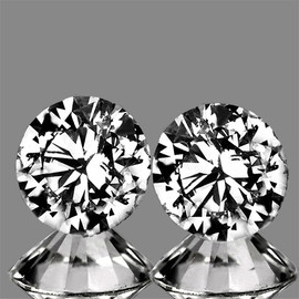 2.80 mm 2 pcs Round Color F-G Extreme Brilliancy Natural White Diamond --AAA Grade