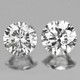 3.00 mm 2 pcs Round Color F-G Extreme Brilliancy Natural White Diamond --AAA Grade