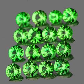 1.70 mm 40 pcs Round Diamond Cut Chrome Green Tsavorite Garnet Natural {Flawless-VVS1}