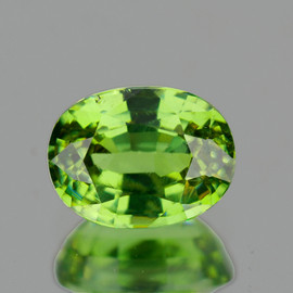 0.76 cts Oval 6.5x4.5 mm AAA Fire Natural Green Demantoid {Flawless-VVS}