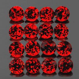 4.00 mm 16 pcs Round Machine Cut Best AAA Fire Red Mozambique Garnet Natural{Flawless-VVS1)--AAA Grade