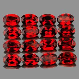6x4 mm 16 pcs Oval Best AAA Fire Red Mozambique Garnet Natural {Flawless-VVS1}