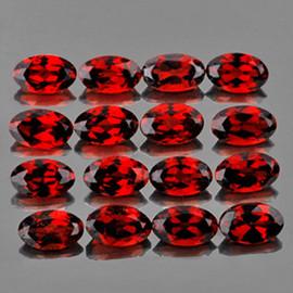 5x3 mm 25 pcs Oval Best AAA Fire Red Mozambique Garnet Natural {Flawless-VVS1}