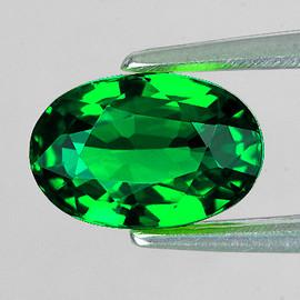 6x4 mm {0.61 cts} Oval AAA Fire AAA Emerald Green Tsavorite Garnet Natural {Flawless-VVS} --AAA Grade