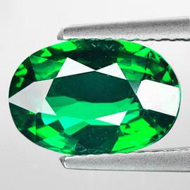 6x4 mm {0.51 cts} Oval AAA Fire AAA Emerald Green Tsavorite Garnet Natural {VVS} --AAA Grade