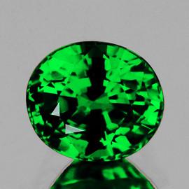 6x5 mm {0.65 cts} Oval AAA Fire AAA Emerald Green Tsavorite Garnet Natural {Flawless-VVS} --AAA Grade