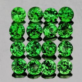 1.10 mm 100 pcs Round Diamond Cut AAA Fire Emerald Green Tsavorite Garnet Natural {Flawless-VVS}