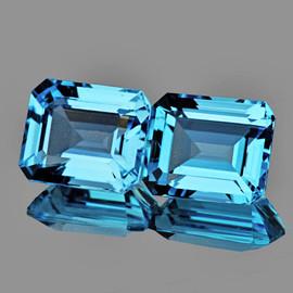 12x10 mm 2pcs Rectangle AAA Fire AAA Sky Blue Topaz Natural {Flawless-VVS1}--AAA Grade