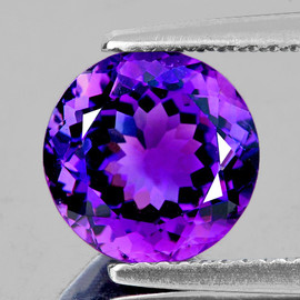9.00 mm Round Best AAA Fire Intense AAA Purple Amethyst Natural {Flawless-VVS1}