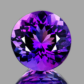 11.00 mm Round Best AAA Fire Intense AAA Purple Amethyst Natural {Flawless-VVS1}