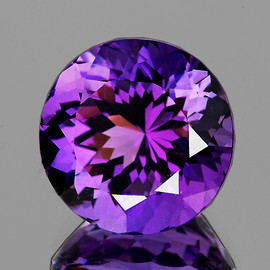 12.00 mm Round Best AAA Fire Intense AAA Purple Amethyst Natural {Flawless-VVS1}