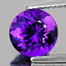 13.00 mm Round Best AAA Fire Intense AAA Purple Amethyst Natural {Flawless-VVS1}