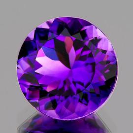 14.50 mm Round Best AAA Fire Intense AAA Purple Amethyst Natural {Flawless-VVS1}