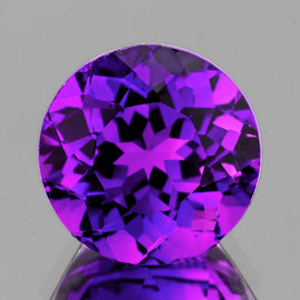 10.00 mm Round Best AAA Fire Intense AAA Purple Amethyst Natural {Flawless-VVS1}