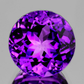 14.00 mm Round Best AAA Fire Intense AAA Purple Amethyst Natural {Flawless-VVS1}