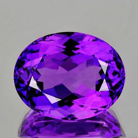 17x14 mm {13.82 cts} Oval Best AAA Fire Intense AAA Purple Amethyst Natural {Flawless-VVS1}