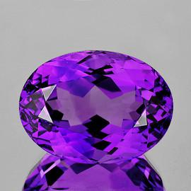 15x11 mm {8.23 cts} Oval Best AAA Fire Intense AAA Purple Amethyst Natural {Flawless-VVS1}