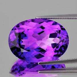 16x12 mm {9.21 cts} Oval Best AAA Fire Intense Purple Amethyst Natural {Flawless-VVS1}