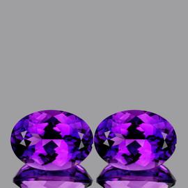 16x12 mm {21.19 cts} Oval Best AAA Fire Intense Purple Amethyst Natural {Flawless-VVS1}