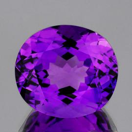 14x12 mm {7.95 cts} Oval Best AAA Fire Intense AAA Purple Amethyst Natural {Flawless-VVS}