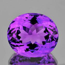 16x14 mm {11.22 cts} Oval Best AAA Fire Intense Purple Amethyst Natural {Flawless-VVS1}