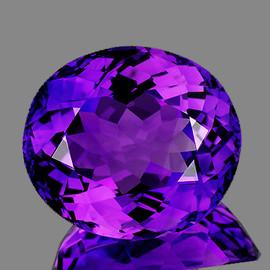 16.50x14.50 mm {13.82 cts} Oval Best AAA Fire Intense AAA Purple Amethyst Natural {Flawless-VVS1}
