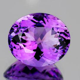 12x10 mm {4.85 cts} Oval Best AAA Fire AAA Purple Amethyst Natural {Flawless-VVS}