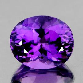 13x11 mm {6.00 cts} Oval Best AAA Fire AAA Purple Amethyst Natural {Flawless-VVS1}