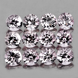 3.00 mm 12 pcs Round AAA Fire Natural Soft Pink Morganite [Flawless-VVS]
