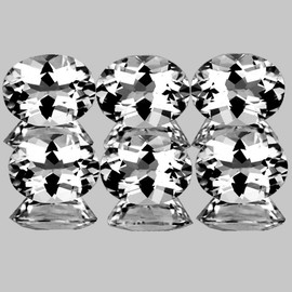 8x6 mm 6 pcs Oval Best AAA White Topaz Natural {Flawless-VVS1}