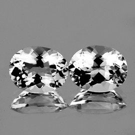 10x8 mm 2 pcs Oval Best AAA White Topaz Natural {Flawless-VVS1}