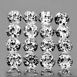 3.50 mm 20 pcs Round Brilliant Cut AAA Diamond White Topaz Natural {Flawless-VVS1}--AAA Grade