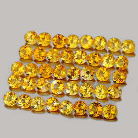0.80-1.10 mm 100 pcs Round Brilliant Machine Cut Natural Golden Yellow Citrine {Flawless-VVS1}