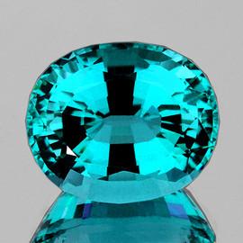 8x6 mm {1.61 cts} Oval AAA Fire Intense Paraiba Blue Apatite Natural (Flawless-VVS)--AAA Grade