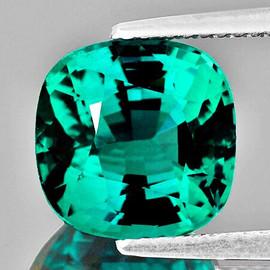 6.50 mm {1.37 cts} Cushion AAA Fire Intense Paraiba Green Blue Apatite Natural {Flawless-VVS}--AAA Grade