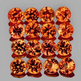 1.80 mm 30 pcs Round Machine Cut Golden Orange Sapphire Natural {Flawless-VVS1}