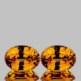 8x6 mm 2 pcs Oval AAA Fire Madeira Golden Citrine Natural (Flawless-VVS}--AAA Grade