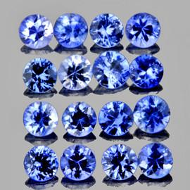 1.70 mm 40 pcs Round Machine Cut Best AAA Fire Ceylon Blue Sapphire Natural {Flawless-VVS}