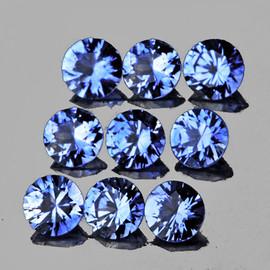 2.80 mm 9 pcs Round Brilliant Machine Cut Extreme Brilliancy Ceylon Blue Sapphire Natural {Flawless-VVS}