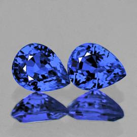 4.5x3.5 mm 2 pcs Pear AAA Fire Intense Ceylon Blue Sapphire Natural {Flawless-VVS}