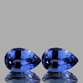 5.5x3.5 mm 2 pcs Pear AAA Fire Top Ceylon Blue Sapphire Natural {Flawless-VVS}