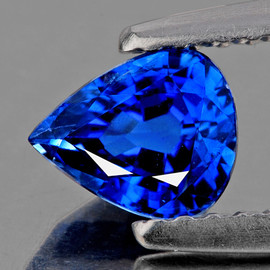 4.5x3.5 mm 1 pcs Pear AAA Fire Intense Ceylon Blue Sapphire Natural {Flawless-VVS}