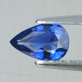 5x3 mm 1 pcs Pear AAA Fire Intense Ceylon Blue Sapphire Natural {Flawless-VVS}