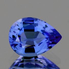 5x4 mm Pear AAA Fire Intense Ceylon Blue Sapphire Natural {Flawless-VVS}