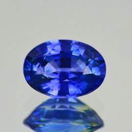 5.5x3.5 mm Oval AAA Fire Intense Ceylon Blue Sapphire Natural {Flawless-VVS)