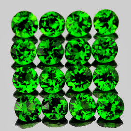 1.70 mm 40 pcs Round Brilliant Cut AAA Fire AAA Chrome Green Diopside Natural {Flawless-VVS1}