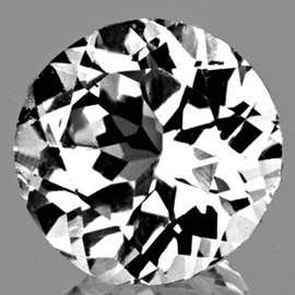 8.00 mm Round Brilliant Cut Best AAA White Topaz Natural {Flawless-VVS1}
