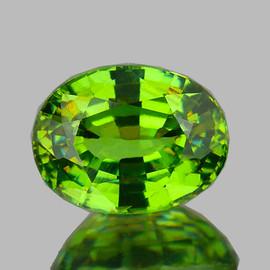 0.82 cts Oval 6x5 mm AAA Fire AAA Premium Green Demantoid Natural (Flawless-VVS)--AAA Grade